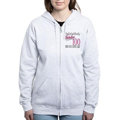 100th Birthday Gift Women's Zip Hoodie