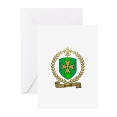 SANTIER Family Crest Greeting Cards (Pk of 10)