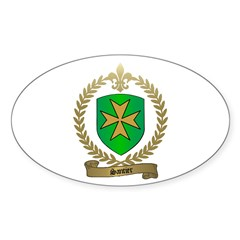 SANTIER Family Crest Oval Decal