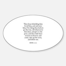 MARK 10:21 Oval Decal