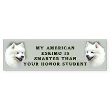 American Eskimo honor student Bumper Bumper Sticker