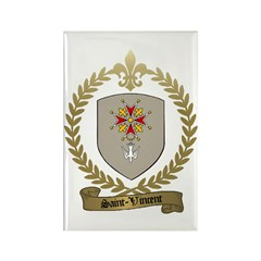 SAINT-VINCENT Family Crest Rectangle Magnet