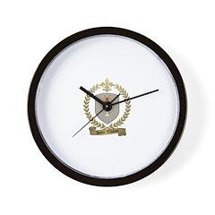 SAINT-VINCENT Family Crest Wall Clock