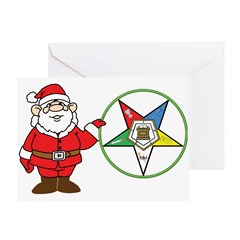 Santa and the OES Greeting Card