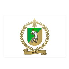 SALLE Family Crest Postcards (Package of 8)