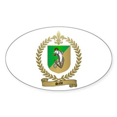 SALLE Family Crest Oval Decal