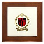 SAINT-QUENTIN Family Crest Framed Tile