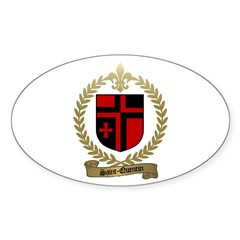SAINT-QUENTIN Family Crest Oval Decal