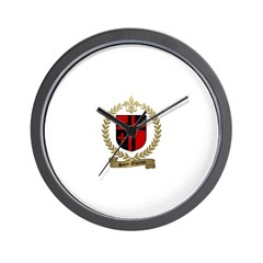 SAINT-QUENTIN Family Crest Wall Clock