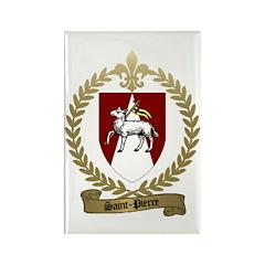 SAINT-PIERRE Family Crest Rectangle Magnet (100 pa