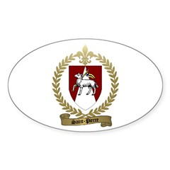 SAINT-PIERRE Family Crest Oval Decal