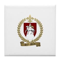 SAINT-PIERRE Family Crest Tile Coaster