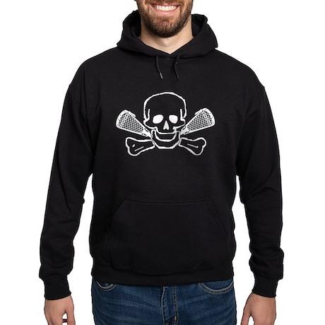 Lacrosse Skull and Crosses Hoodie (dark)