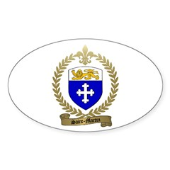 SAINT-MARTIN Acadian Crest Oval Decal
