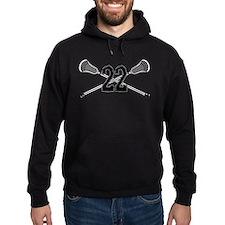 Lacrosse Number 22 Hoodie