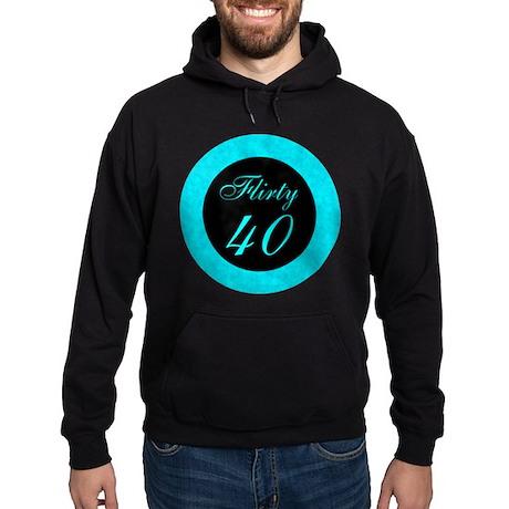 Flirty Forty, 40th Hoodie (dark)