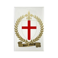 SAINT-GEORGE Family Crest Rectangle Magnet (100 pa