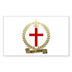 SAINT-GEORGE Family Crest Rectangle Decal