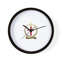 SAINT-GEORGE Family Crest Wall Clock