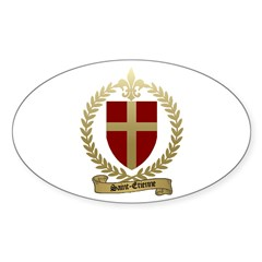 SAINT-ETIENNE Family Crest Oval Decal