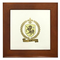 ROUX Family Crest Framed Tile