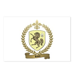 ROUX Family Crest Postcards (Package of 8)