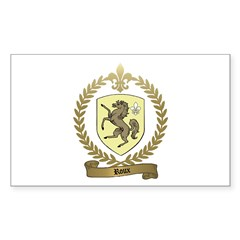 ROUX Family Crest Rectangle Decal