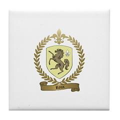 ROUX Family Crest Tile Coaster