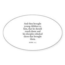 MARK 10:13 Oval Decal
