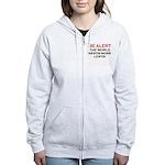 Be Alert, World Needs Lerts Women's Zip Hoodie