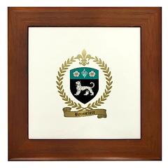 ROUSSELIERE Family Crest Framed Tile