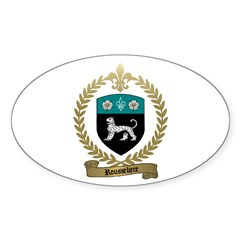 ROUSSELIERE Family Crest Oval Decal