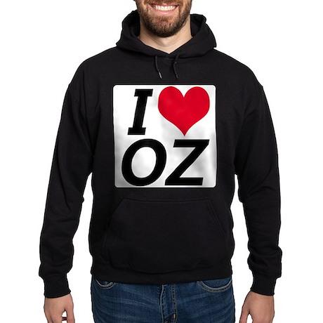 I Love Oz Hoodie (dark)