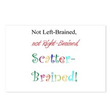 Scatter-Brained! Postcards (Package of 8)