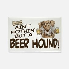 Funny Beer Hound Rectangle Magnet