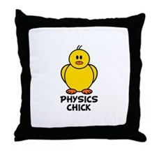 Physics Chick Throw Pillow