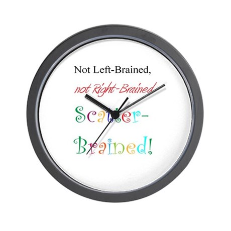 Scatter-Brained! Wall Clock