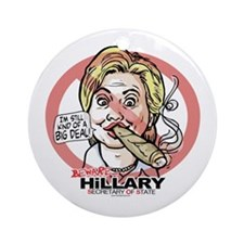 Big Deal Anti Hillary SOS Ornament (Round)
