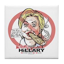 Big Deal Anti Hillary SOS Tile Coaster