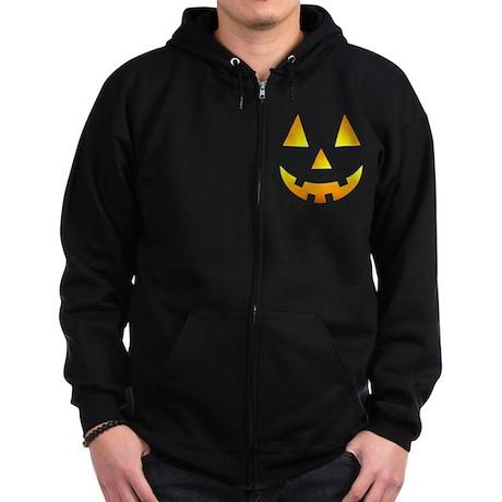 Jack-O-Lantern Zip Hoodie (dark)
