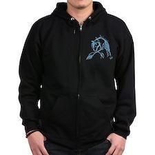 Horse Head Sketch Zip Hoodie