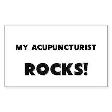MY Acupuncturist ROCKS! Rectangle Decal
