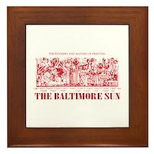 Sun Only-RED Framed Tile