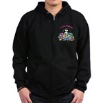I Love Candy Penguin Zip Hoodie (dark)