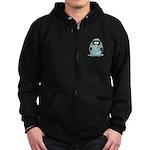 Surgeon Penguin Zip Hoodie (dark)