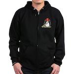 Fireman penguin Zip Hoodie (dark)