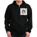 Bad Tie penguin Zip Hoodie (dark)