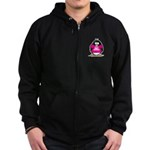 Hot Momma Penguin Zip Hoodie (dark)