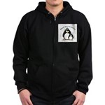 Best Big Brother penguins Zip Hoodie (dark)
