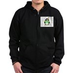 Senior 2007 Party Penguin Zip Hoodie (dark)
